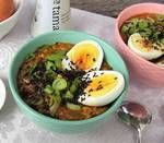 Asian-Style Oatmeal With Egg, Scallions and Tamari