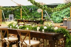 Greenery reception space | Sunnyside Plantation