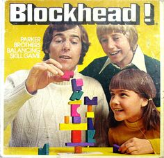 Vintage 1975 Parker Brothers Blockhead Game