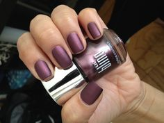 bling chrome nail polish: sugar plum with a matte finish