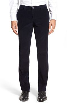 BOSS BOSS 'Stanino' Flat Front Corduroy Trousers available at #Nordstrom