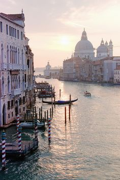 Grand Canal in Venice (Veneto, Italy) #travel #places