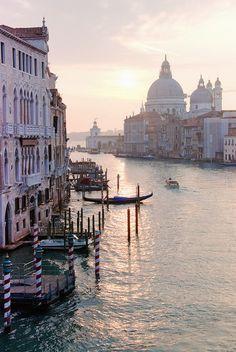 Morning Light - Grand Canal in Venice (Veneto, Italy)