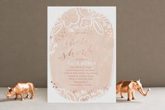Rosebloom Foil-Pressed Baby Shower Invitations by Laura Hankins at minted.com