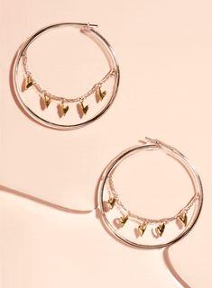 Honey Honey Hoop Earrings in Silver, Gold & Rose Gold Heart Earrings, Hoop Earrings, Queen Of Hearts, Studs, Dangles, Rose Gold, Bracelets, Silver, Collection