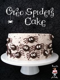 Bird On A Cake: Oreo Spiders Cake. (Would make cute cupcakes for the Halloween party!)