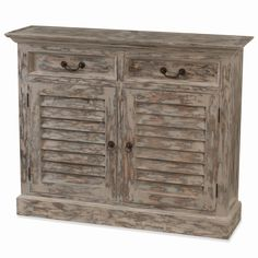 Shutter Narrow Sideboard. Customize items with any of our wide range of finishes, colors, and hand painted artwork. Any item can be painted in over million ways enabling items to be truly unique. The possibility are nearly endless and include stained, distressed, textured, antiqued, weathered and metallic finishes. In addition, artwork is available on most items. Items can be customized with any of our hand painted designs.
