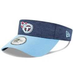 finest selection 9a4e3 1a917 Men s Tennessee Titans New Era Navy Light Blue 2018 NFL Sideline Home  Official Visor,