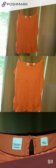 NWT!!! Satin trim tank! This is NEW with original tags attached! As always I'm open to offers and bundle under 5 lb. If a label upgrade is needed Posh double dips by charging me the entire shipping amount as well as charging the buyer the normal shipping right. No trades, smoke-free, and pug friendly! I typically ship same or next day Sonoma Tops Camisoles