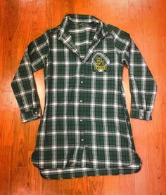 The perfect flannel to couple with leggings and boots by day, for a warm cozy gown by night, and the best way to rep your Baylor pride 24/7!