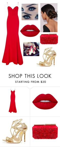 """""""Untitled #2926"""" by outfitstowear ❤ liked on Polyvore featuring Romona Keveža, Lime Crime and Oscar de la Renta"""