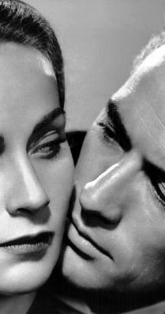 Alida Valli & Gregory Peck in Alfred Hitchcock's, 'The Paradine Case', 1947.