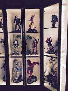 Action Figures LED Lighting Display Cabinet