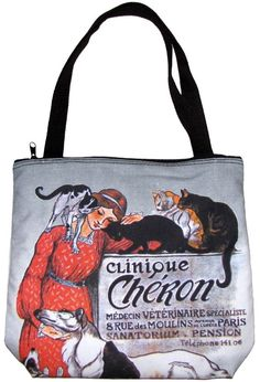 CLINIQUE CHERON Steinlan Art Print Bag Sling Purse Messenger Tote S Small PN NEW #PN #LargeTotePurse
