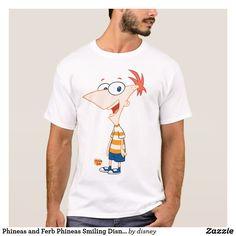 Phineas and Ferb Phineas Smiling Disney. Producto disponible en tienda Zazzle. Vestuario, moda. Product available in Zazzle store. Fashion wardrobe. Regalos, Gifts. Trendy tshirt. #camiseta #tshir