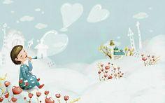 Spring Fairyland - Spring Scene Art Illistration