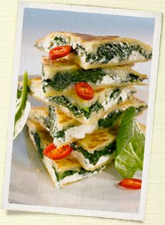 Vuohenjuusto-pinaati quesadilla
