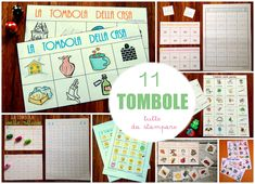 11 tombole tutte da stampare Summer Camp Activities, Language Activities, Baby Party, Aba, Children, Kids, Bridal Shower, Education, Holiday Decor