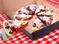 Watermeloenpizza met fruit