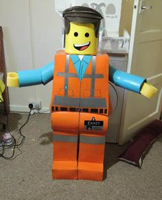 lego, lego costume, fancy dress, lego movie, emmet, daughter, dad, costume, dressing up,