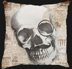 Must Have Custom Designed Decor, Scatter Cushion, designed to your taste colour and theme, scull design;kop been reeks; Scatter Cushions, Afrikaans, Diy Art, Custom Design, Colour, Printed, Decor, Color, Decoration