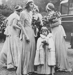 Princess Elizabeth of York (now Queen Elizabeth II) as a bridesmaid for the wedding of Captain Henry Abel-Smith and Lady May Cambridge 1931 . Elizabeth Of York, Princess Elizabeth, Princess Margaret, Queen Elizabeth Ii, Die Queen, Hm The Queen, Her Majesty The Queen, Windsor, Adele