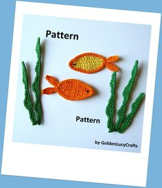 Fish and Sea Weeds Crochet PATTERN