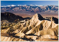Badwater Lake and Panamint Range, Death Valley, CA by travelpix, via Flickr