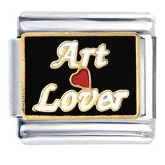 Pugster Art Lover And Heart Italian Charm Bracelet Pugster, $5.98 plus 3.25 shipping.