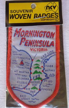 Another Mornington Peninsula patch - this one was just listed as 'cloth badge Mornington Peninsular' with a mis-spelling! It sold for an amazing $44.50 on ebay on 12 March 2015.  The last one sold for $15.50 and this for $44 - I have one of these patches to sell in a few weeks time - what will it sell for??? Will post that as well!
