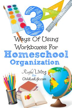 Gabi from Restful Living is here to share 3 of the ways to tailor the workbox system to work best for your family's homeschool organization and needs!