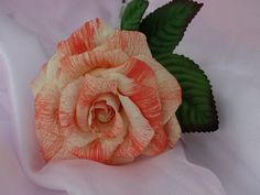 A handmade full bloom rose hand tinted! Visit my etsy shop!