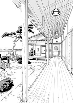 Perspective Drawing Lessons, Perspective Art, Cityscape Drawing, Arte 8 Bits, Architecture Drawing Sketchbooks, Background Drawing, Japon Illustration, Landscape Drawings, Art Drawings Sketches Simple