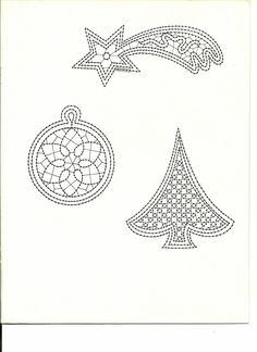 renda de bilros / bobbin lace Natal / Christmas Bobbin Lace Patterns, Lacemaking, Point Lace, Needle Lace, Filet Crochet, Tatting, Techno, Diy And Crafts, Projects To Try