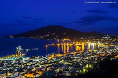 blue, greece, ionion, island, its_me, lights, night, nightshot, reflections, sea, sky, yellow, zakynthos