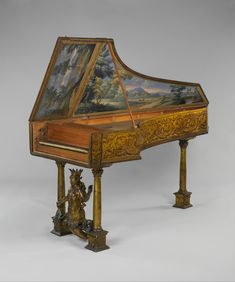 "met-musical-instruments: ""Harpsichord via Musical Instruments Medium: Wood, paint, various materials Gift of Susan Dwight Bliss, 1945 Metropolitan Museum of Art, New York,..."