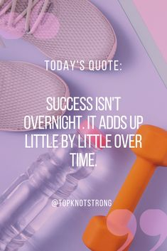 Your success towards your goals will not happen over night. It will be the accumulation of things you have done over time. Keep going! Bodybuilding Motivation Quotes, Bikini Competitor, Top Knot, Success Quotes, Knots, Motivational Quotes, Goals, Night, High Bun