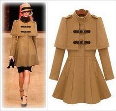 brand top coats christmas gift slim warm coat dress for women lady