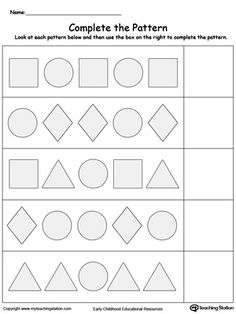 free ab pattern worksheet for pre k continue the ab patterns by coloring which shapes come next. Black Bedroom Furniture Sets. Home Design Ideas