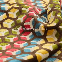 #new #collection #ziani #multicolor #velvet #geometric #pink #yellow #blue…