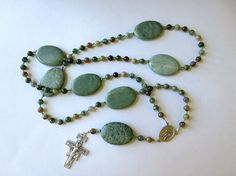 Earth tone Franciscan Crown Rosary of Fancy by secondarycreations