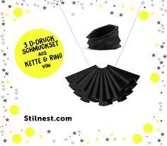 Im 14. Türchen unseres Adventskalenders verlosen wir coolen 3D - Schmuck - Ring & Kette - von Stilnest . Schnell auf den Blog und mitgemacht.  http://hauptstadtmutti.de/news/adventskalender-2014-14-dezember