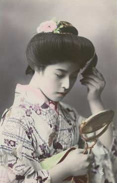 kvinna, porträtt, fotografi, photograph Hand Coloring, Ruffle Blouse, Japanese, Women, Fashion, Moda, Japanese Language, Fashion Styles, Fashion Illustrations