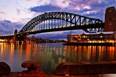 The Sydney Harbour Bridge is an iconic image to fellow Australians and the whole world over. This night shot says it all.