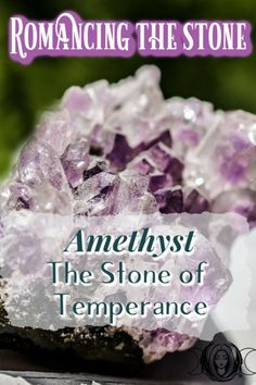 Amethyst is a very diverse crystal with many metaphysical and magickal uses. Here is the Greek story on amethyst and how it came to be! Chakra Crystals, Crystals And Gemstones, Stones And Crystals, Healing Crystals, Crystals For Sleep, Romancing The Stone, Crystal For Anxiety, Meditation, Witchcraft For Beginners