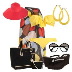Vamos a la Playa by outfits-de-moda2 on Polyvore featuring moda, Paul Smith, Yellow Box, Juicy Couture, Forever 21, Miu Miu and American Apparel