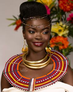 BN Bridal Beauty: An International Splash of Colour by Joy Adenuga African Beauty, African Women, African Fashion, African Tribes, Ankara Fashion, African Wear, Beautiful Dark Skinned Women, Beautiful Black Women, Kenyan Wedding