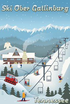 Sunapee, New Hampshire - Retro Ski Resort - Lantern Press Artwork Giclee Art Print, Gallery Framed, Espresso Wood), Multi Party Vintage, Look Vintage, Vintage Ski Posters, Park City Utah, Acrylic Wall Art, Acrylic Photo, Poster Prints, Art Prints, Printer