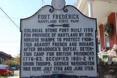 Washington County, Maryland Fort Frederick Historic Sign Marker.
