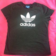 Black Adidas Tee Plain black Adidas t shirt with the Adidas symbol in white Adidas Tops Tees - Short Sleeve